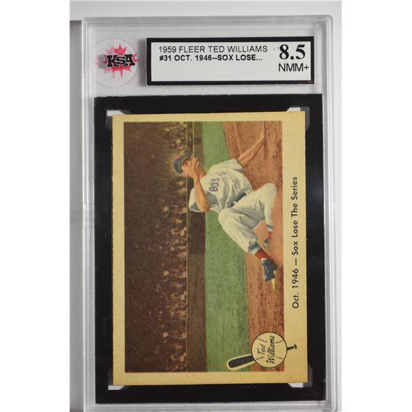 1959 Fleer Ted Williams #31 Sox Lose Series
