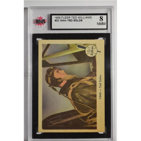 1959 Fleer Ted Williams #22 1944 Ted Solos