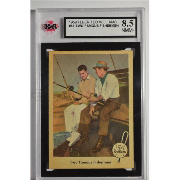 1959 Fleer Ted Williams #67 Fam.Fishermen w/Snead