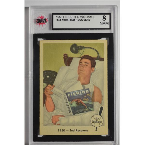 1959 Fleer Ted Williams #41 1950 Ted Recovers