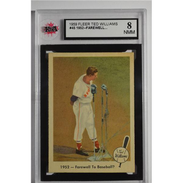 1959 Fleer Ted Williams #45 Farewell to Baseball