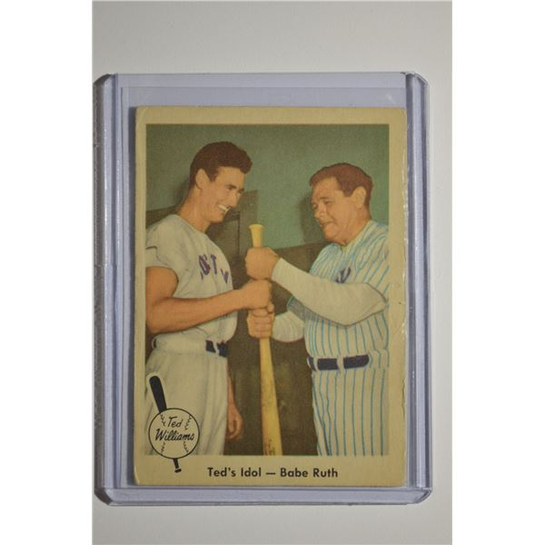 1959 Fleer Ted Williams #2 Ted's Idol Babe Ruth
