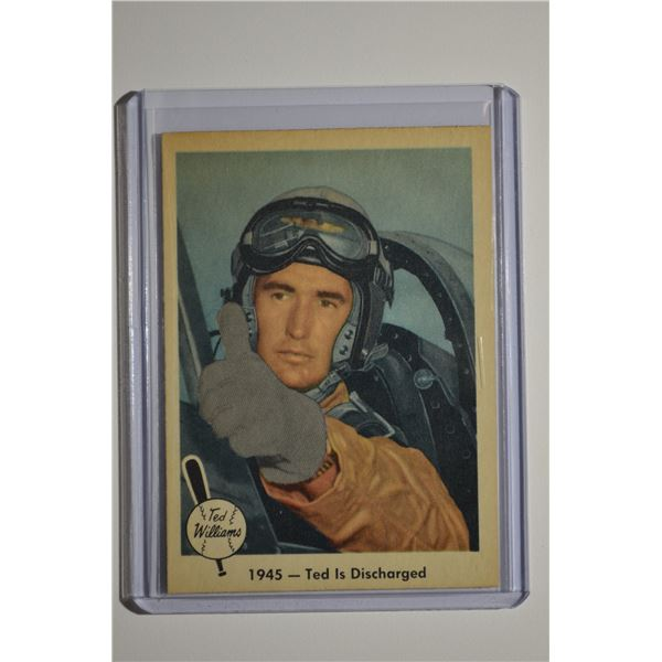 1959 Fleer Ted Williams #25 1945 Ted Discharged