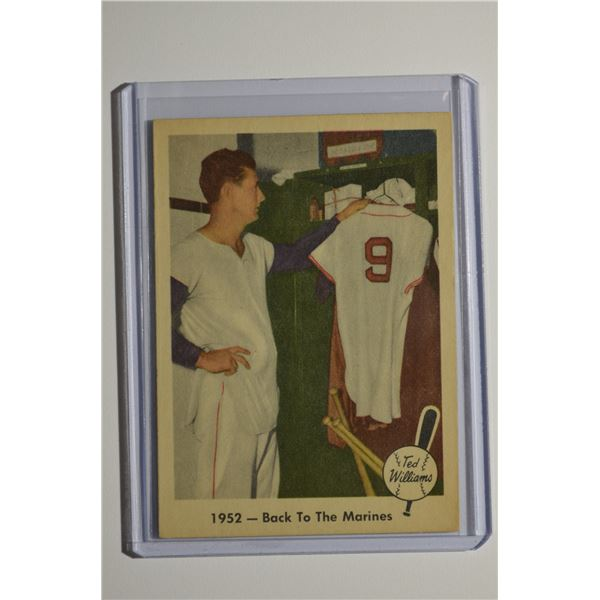 1959 Fleer Ted Williams #44 Back to Marines