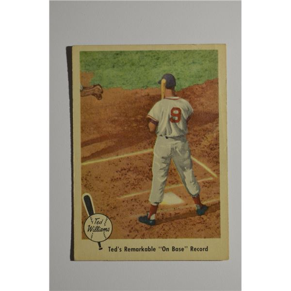 1959 Fleer Ted Williams #76 On Base Record