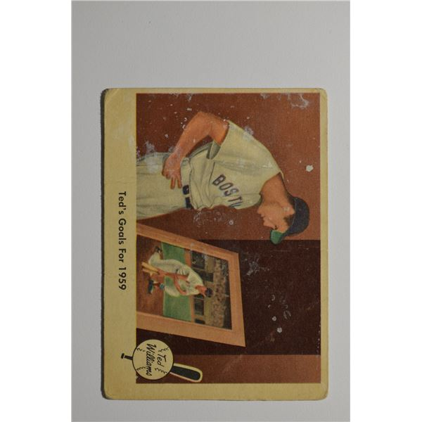 1959 Fleer Ted Williams #80 Ted's Goals for 1959