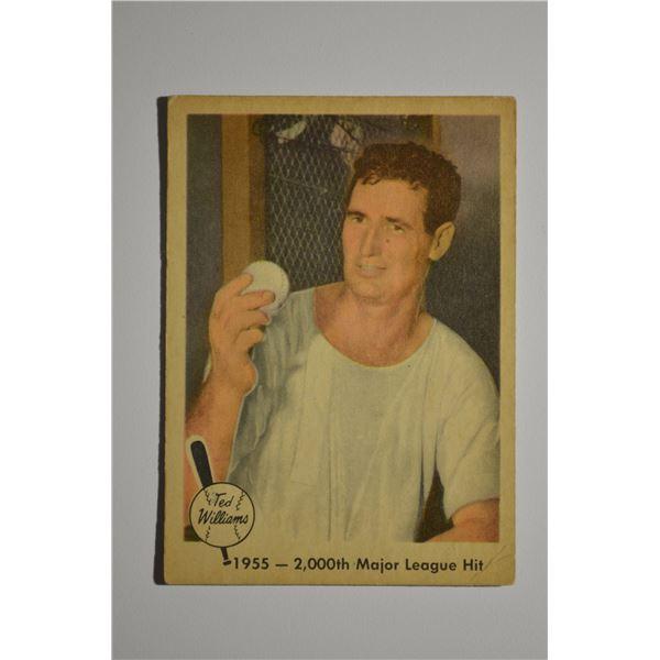 1959 Fleer Ted Williams #56 2,000th Hit 8/11/55
