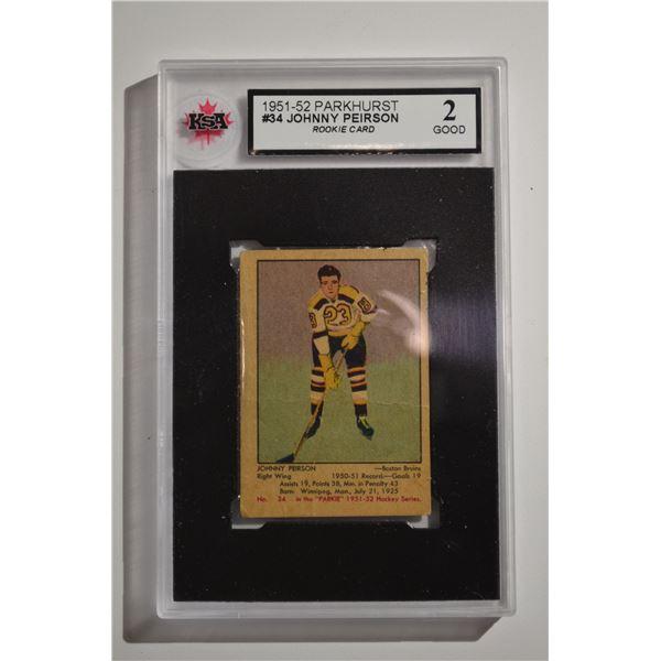 1951-52 Parkhurst #34 Johnny Peirson ROOKIE