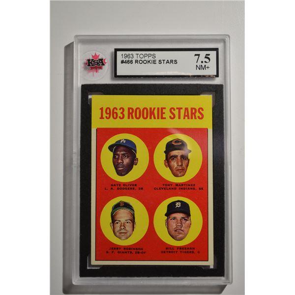 1963 Topps #466 Rookie Stars/Nate Oliver ROOKIE/Tony Martinez ROOKIE/Bill Freehan ROOKIE/Jerry Robin