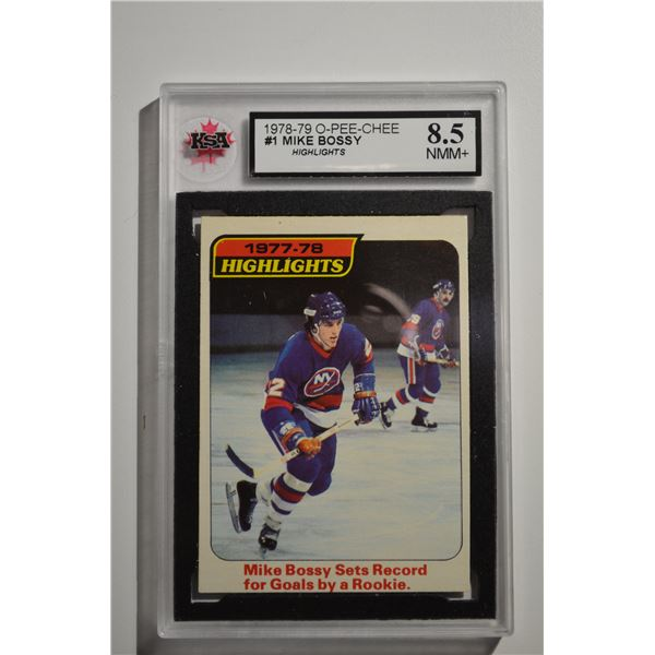 1978-79 O-Pee-Chee #1 Mike Bossy HL