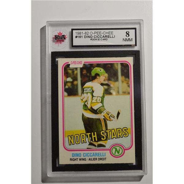 1981-82 O-Pee-Chee #161 Dino Ciccarelli ROOKIE