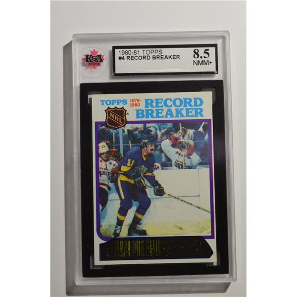 1980-81 Topps #4 Charlie Simmer RB/Scores in 13th Straight