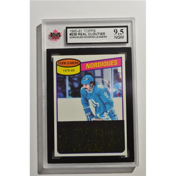 1980-81 Topps #238 Real Cloutier TL/Nordiques Scoring Leaders/(checklist back)