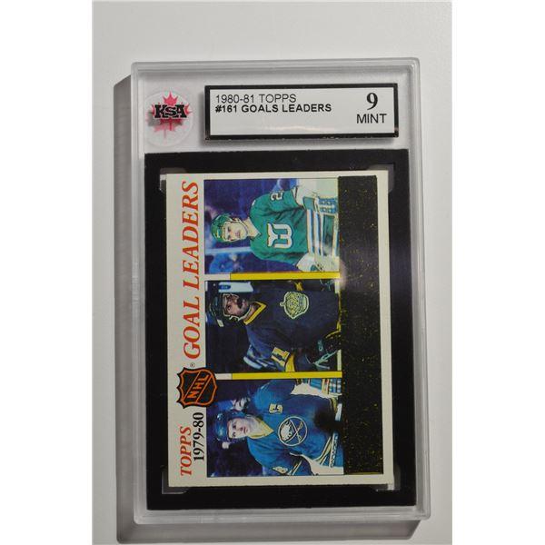 1980-81 Topps #161 Goals Leaders/Danny Gare (1)/Charlie Simmer (1)/Blaine Stoughton (1)