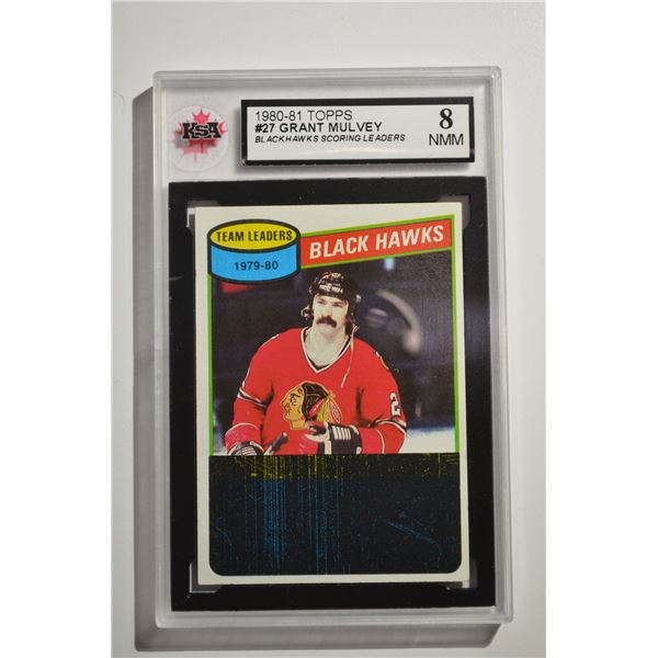 1980-81 Topps #27 Grant Mulvey TL/Blackhawks Scoring Leaders/(checklist back)