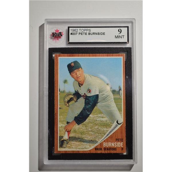 1962 Topps #207 Pete Burnside