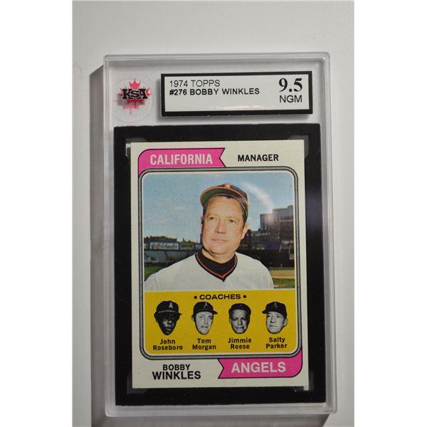 1974 Topps #276 Bobby Winkles MG/John Roseboro CO/Tom Morgan CO/Jimmie Reese CO/Salty Parker CO