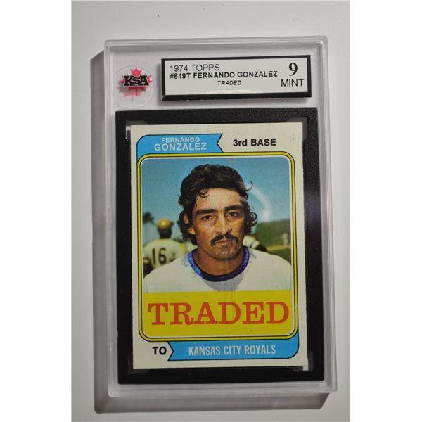 1974 Topps Traded #649T Fernando Gonzalez