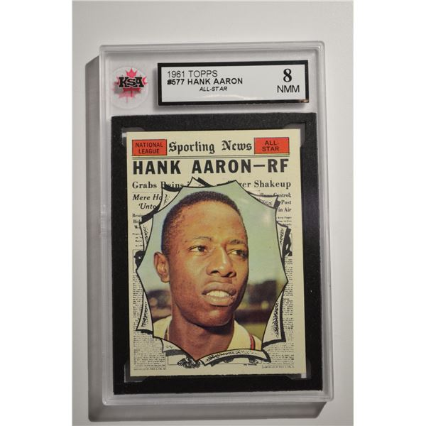 1961 Topps #577 Hank Aaron AS
