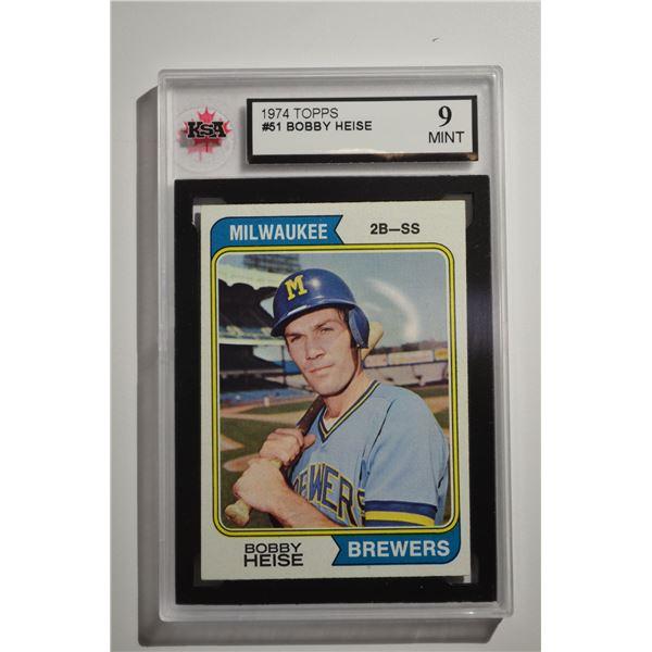 1974 Topps #51 Bobby Heise