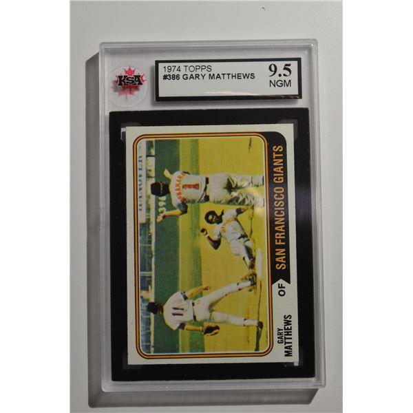 1974 Topps #386 Gary Matthews