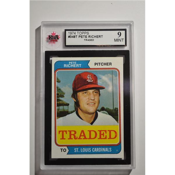 1974 Topps Traded #348T Pete Richert