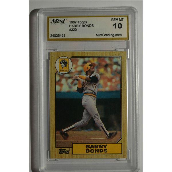 1987 Topps #320 Barry Bonds ROOKIE - GEM MINT 10!