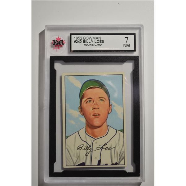 1952 Bowman #240 Billy Loes ROOKIE