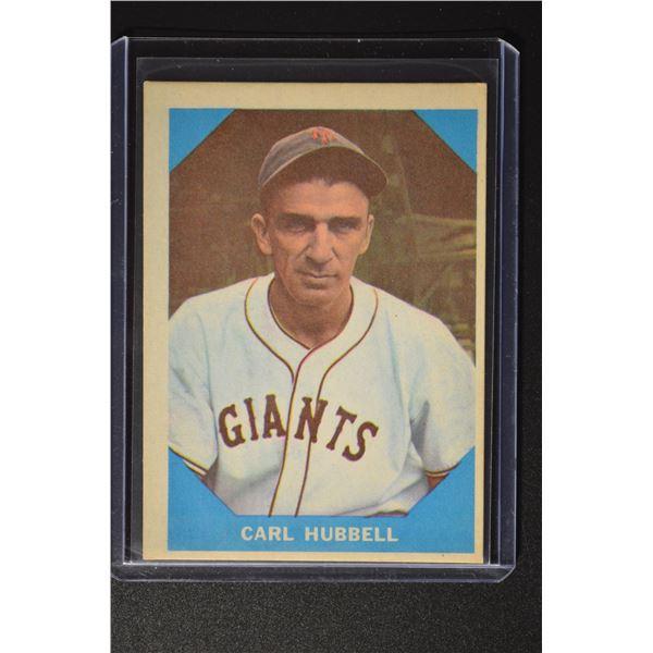 1960 Fleer #4 Carl Hubbell