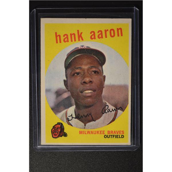 1959 Topps #380 Hank Aaron