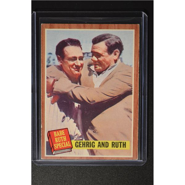 1962 Topps #140 Babe Ruth Special 6/Gehrig and Ruth