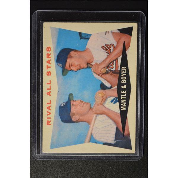 1960 Topps #160 Rival All-Stars/Mickey Mantle/Ken Boyer