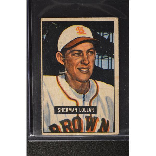 1951 Bowman #100 Sherm Lollar