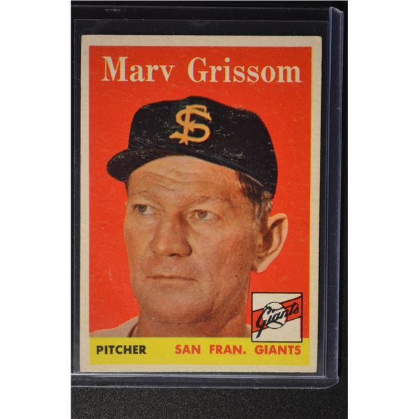 1958 Topps #399 Marv Grissom