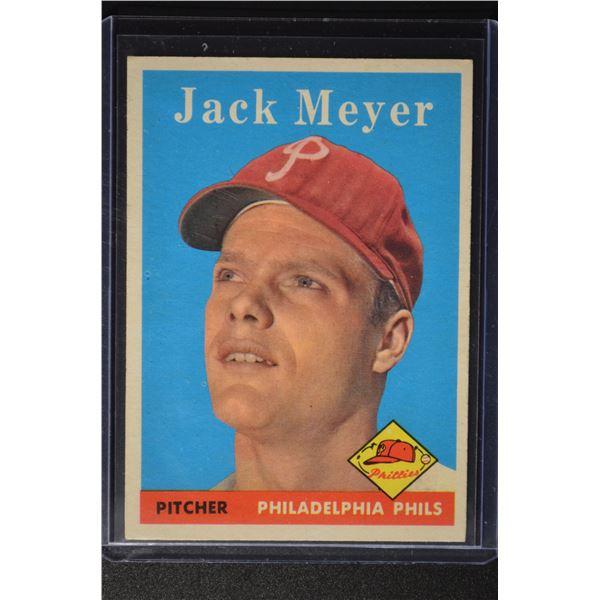1958 Topps #186 Jack Meyer