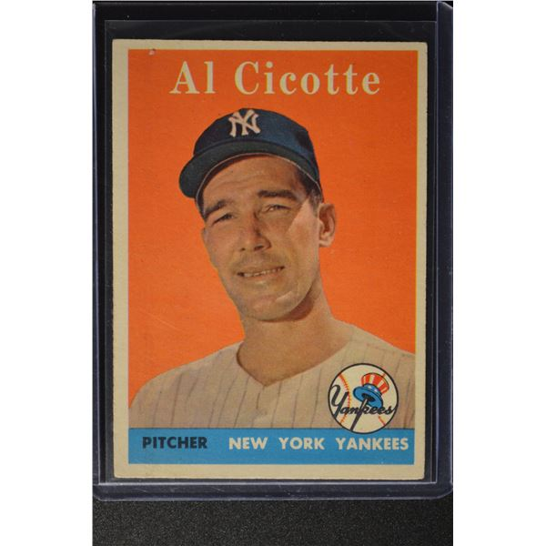 1958 Topps #382 Al Cicotte