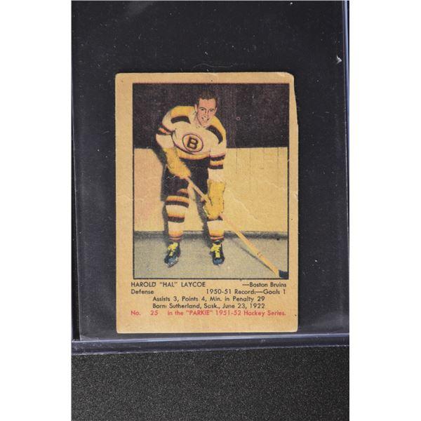 1951-52 Parkhurst #25 Hal Laycoe ROOKIE