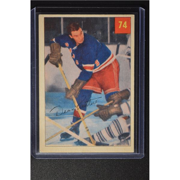 1954-55 Parkhurst #74 Dean Prentice ROOKIE