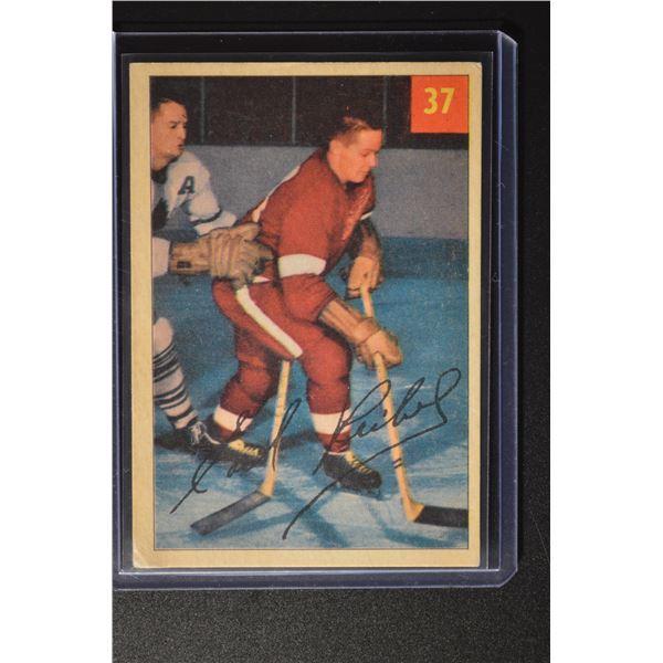 1954-55 Parkhurst #37 Earl Reibel