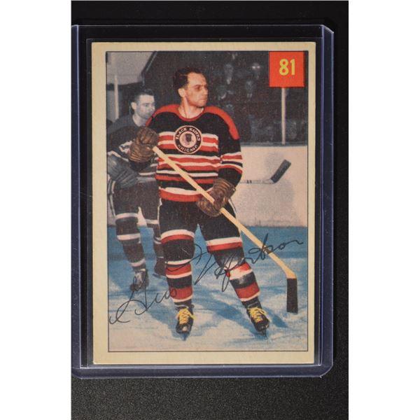 1954-55 Parkhurst #81 Gus Mortson