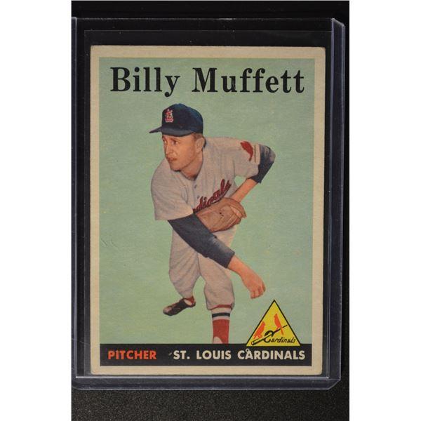 1958 Topps #143 Billy Muffett ROOKIE