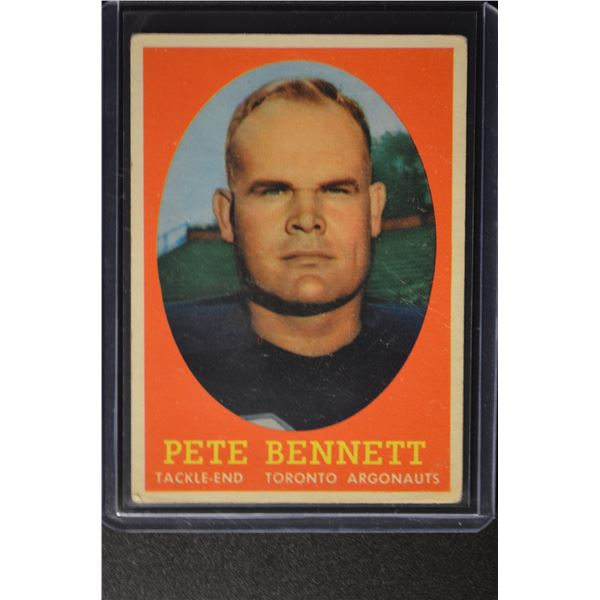 1958 Topps CFL #69 Pete Bennett