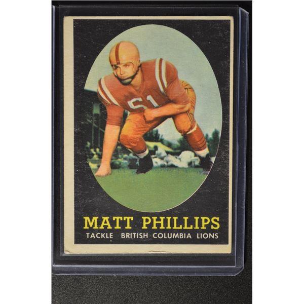 1958 Topps CFL #68 Matt Phillips