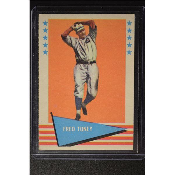 1961 Fleer #80 Fred Toney
