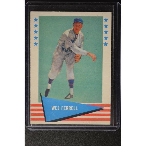 1961 Fleer #26 Wes Ferrell