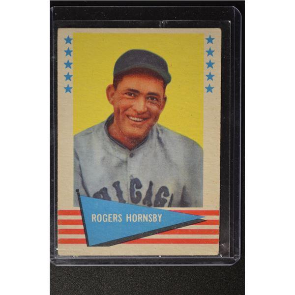 1961 Fleer #43 Rogers Hornsby