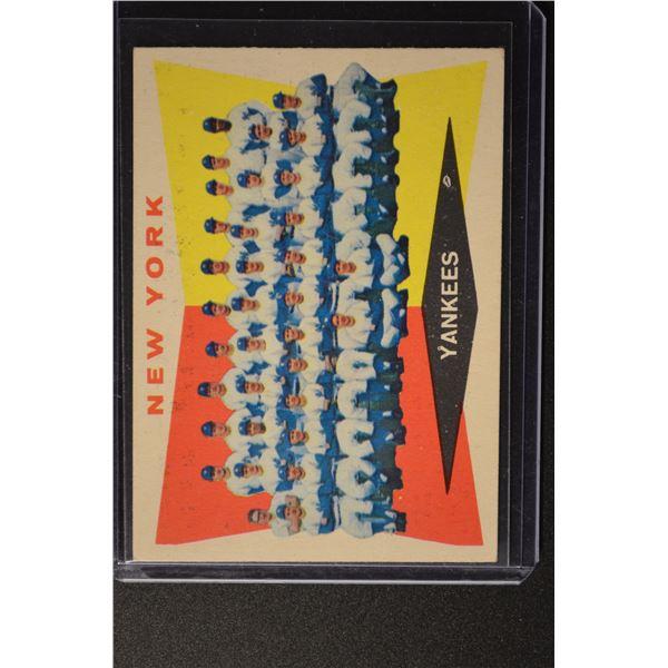 1960 Topps New York Yankees Team