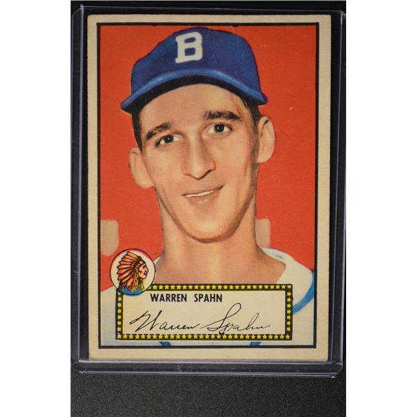 1952 Topps #33 Warren Spahn