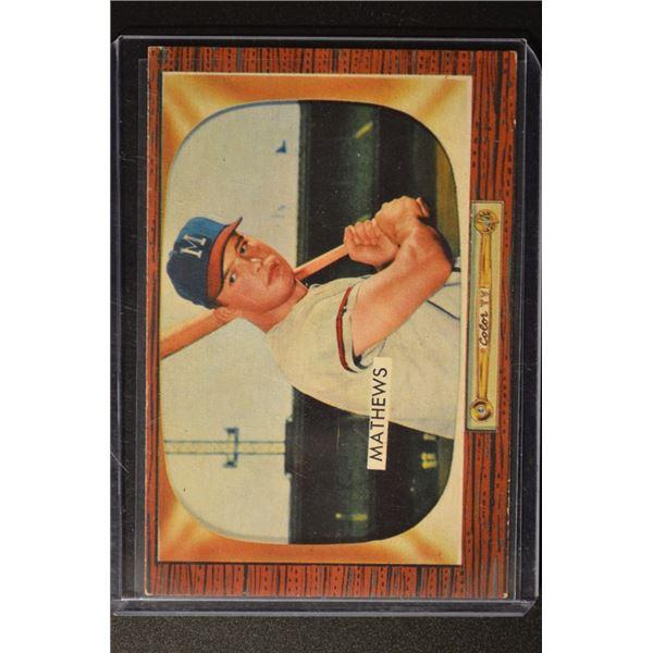 1955 Bowman #103 Eddie Mathews
