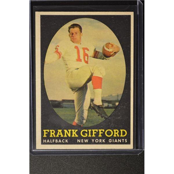 1958 Topps #73 Frank Gifford
